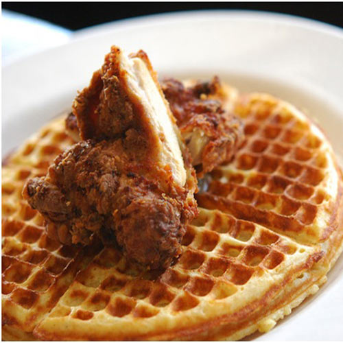 Waffles with Boneless chicken