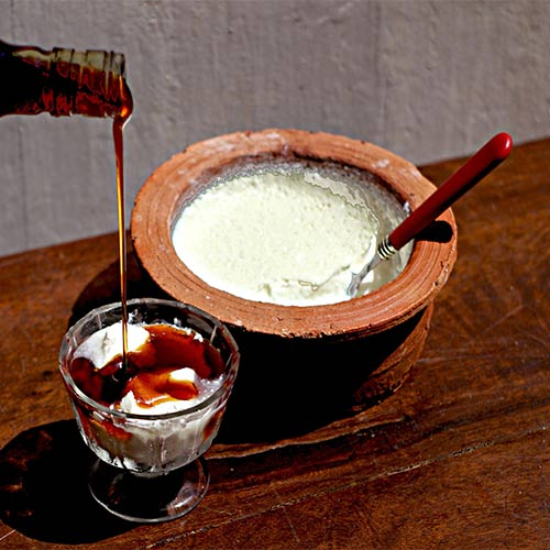 Curd with Kitul Treacle